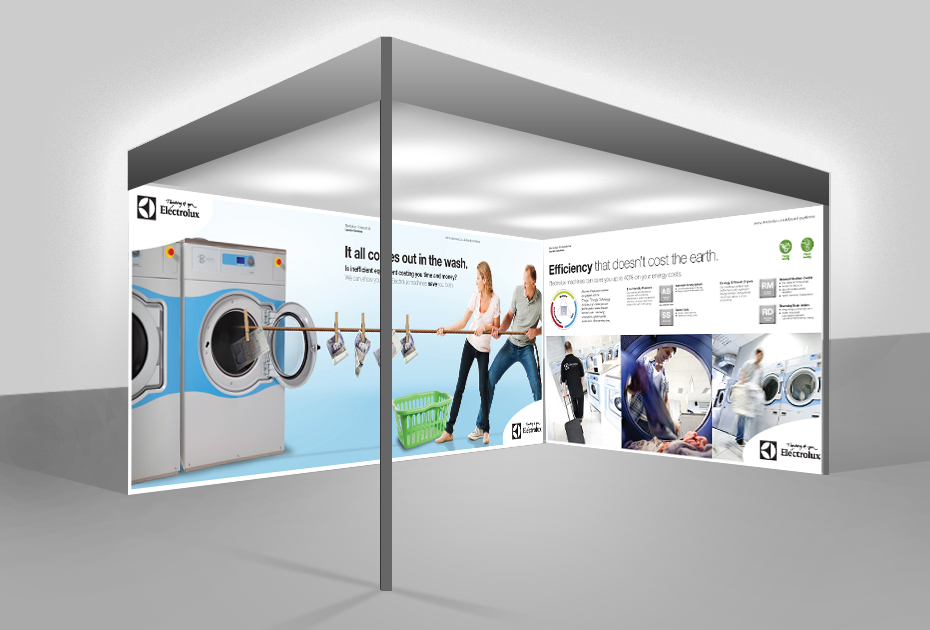 Simple Exhibition Stand Out : Electrolux various exhibitions stimulating minds