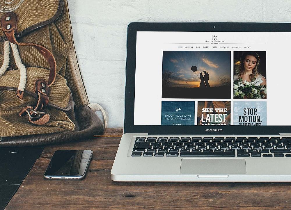 HBA Wedding Photography Website Homepage